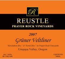 Reustle Prayer Rock Vineyards Gruner Veltliner