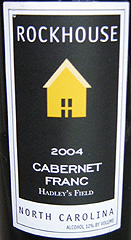 Rock House Vineyards Cabernet Franc