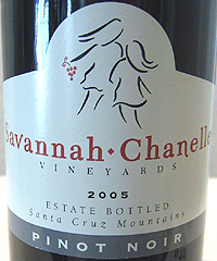 Savannah-Chanelle Vineyards Santa Cruz Mountains Pinot Noir