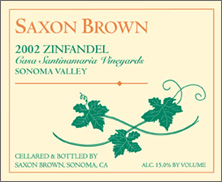 Saxon Brown Wines zinfandel