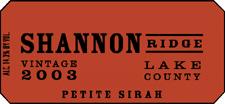 Shannon Ridge Winery petite sirah