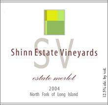 Shinn Estate Vineyards - Long Island Merlot