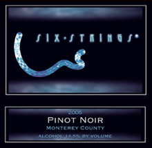 Six Strings Winery-Pinot Noir