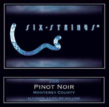 Six Strings Winery-Pinot Noir