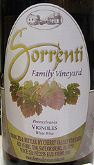 Sorrenti Family Vineyards Vignoles