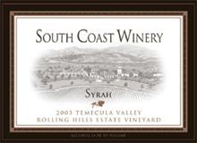 South Coast Winery Temecula Syrah