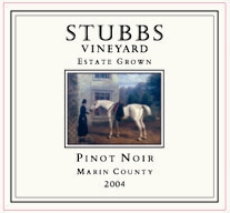 Stubbs Vineyard Marin County Wines