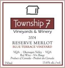 Township 7 Vineyards and Winery Merlot
