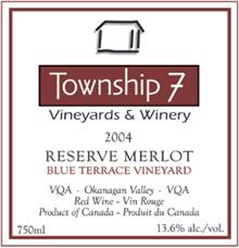 Township 7 Vineyards and Winery Merlot