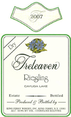 King Ferry Winery Treleaven Cayuga Lake Riesling