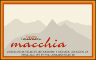 Muccigrosso Vineyards - Santa Cruz Mountains Macchia Red Wine