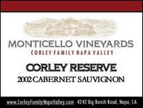 Monticello Vineyards/Corley Family Napa Valley