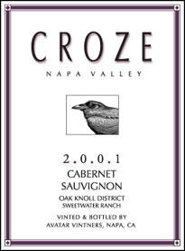 Croze - Napa Valley Cabernet Sauvignon