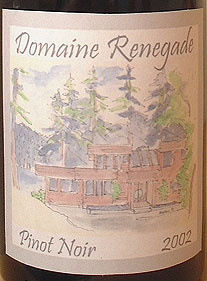 Domaine Renegade Pinot Noir Wine Label