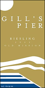 Gills Pier Vineyard and Winery - Old Mission Peninsula Riesling