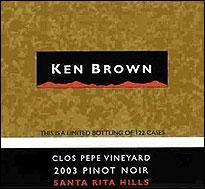 Ken Brown 2003 Pinot Noir Clos Pepe Santa Rita Hills