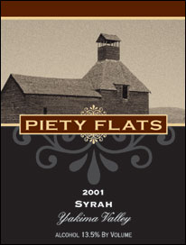 Piety Flats Winery - Yakima Valley, Washington