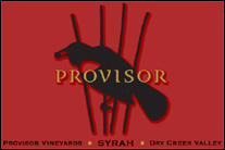 Provisor Vineyards Dry Creek Valley Syrah