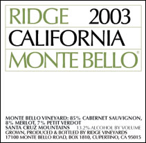 Ridge 2003 California Montebello
