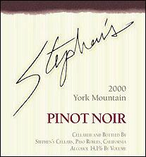 Stephens Cellar Pinot Noir