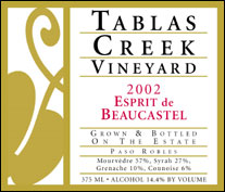 Tablas Creek Vineyard - Esprit de Beaucastel