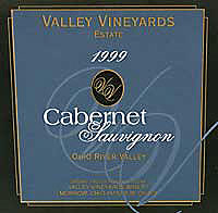 Valley Vineyards cabernet sauvignon phio