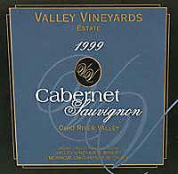Valley Vineyards cabernet sauvignon phio