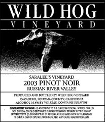 Wild Hog Vineyard Pinot Noir
