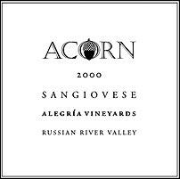 Acorn Winery - Sangiovese