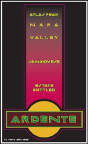 Ardente Winery - Atlas Peak, Napa Valley Sangiovese