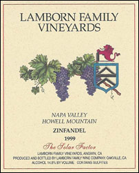Lamborn Family Vineyards - Howell Mountain, Napa Valley Zinfandel