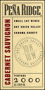 Pena Ridge Cabernet Label