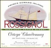Rossignol Estate Winery Ortega Chardonnay