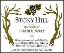 Stony Hill Vineyard - Spring Mountain District, Napa Valley