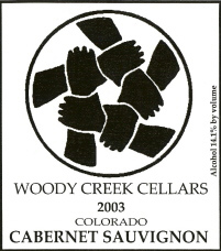 Woody Creek Cellars Cabernet Sauvignon